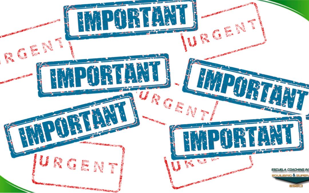 ESECI Coaching: Diferencia entre Importante y Urgente